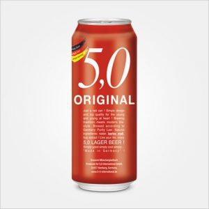5 0 original lager beer CAN