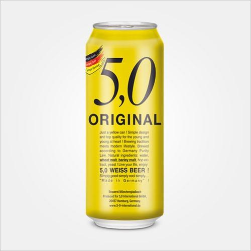 5 0 original weiss beer CAN