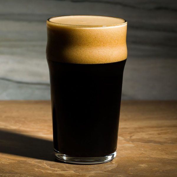 Irish Stout beer glass 2