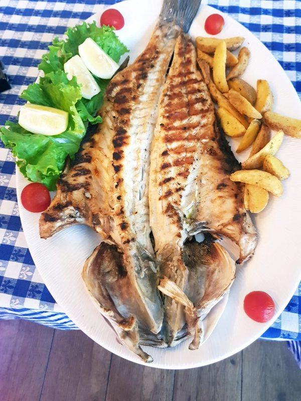 Levrek cooked open