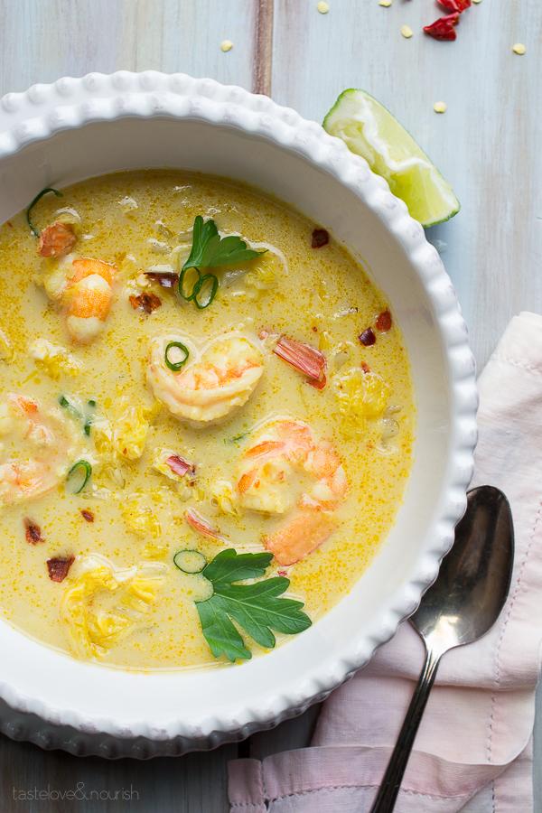 Shrimp Thai soup 16