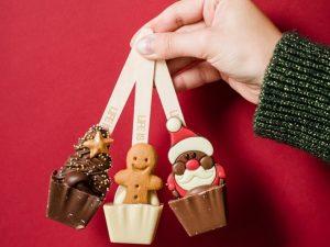 Trio ciocolata pe lingurita Set Sarbatori fericite