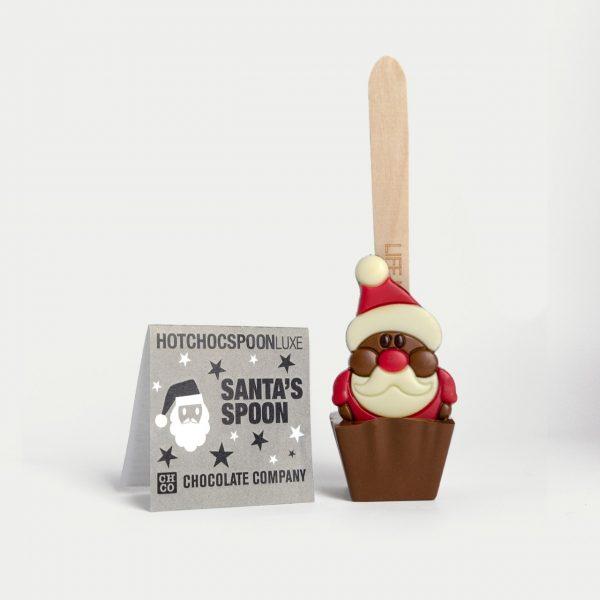 Ciocolata calda pe lingurita Mos Craciun